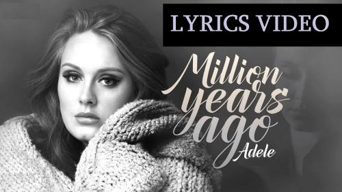Adele-million-years-ago